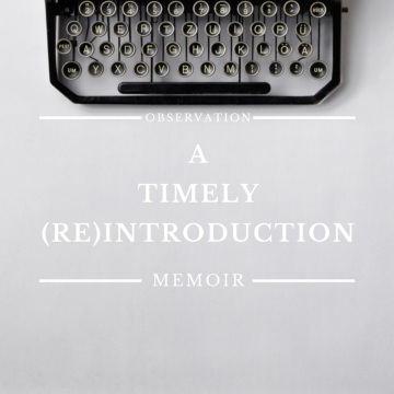 A Timely (Re)Introduction